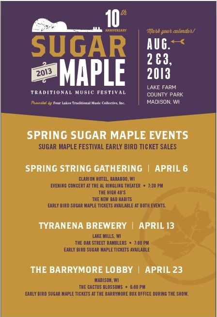 Spring Sugar Maple Events 2013